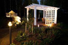 My Secret Garden, Little Houses, Trellis, My Dream Home, Terrace, Aga, Backyard, Outdoor Structures, Decking