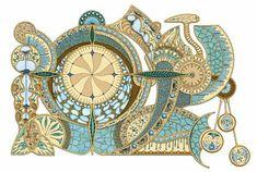 """Time"" Creative Art, Rolex, Vintage World Maps, Mandala, Digital Art, Clock, Artwork, Accessories, Creative Artwork"