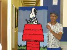 Snoopy CBN :-)  To learn how to crochet by numbers message me.