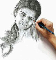 Pencil Portrait Mastery - Reacting Portrait - pencil drawing by Vipin Varia; This was made as an advertisement for the pencil brand Apsara. - Discover The Secrets Of Drawing Realistic Pencil Portraits Funny Drawings, Easy Drawings, Awesome Drawings, Tattoo Sketches, Drawing Sketches, Sketching, Face Sketch, Pencil Art, Pencil Drawings