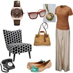 Retro look, created by marniew on Polyvore