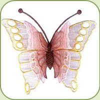 3d Fsl Butterfly Cute Machine Embroidery Designs Embroidery