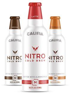 Califia Nitro Cold Brew Coffee Drinks with Almondmilk - creamy dairy-free lattes with a micro-foam experience (vegan, gluten free, soy-free)