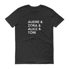 Audre, Zora, Alice & Toni Short sleeve t-shirt – Buy Noir