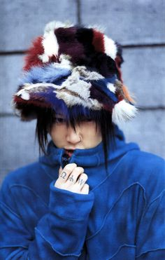 Some Guys in Hats, and Sometimes Some Women. Aesthetic Japan, Japanese Aesthetic, Miyavi, Alternative Outfits, Visual Kei, Wall Prints, Beautiful People, Winter Hats, Punk