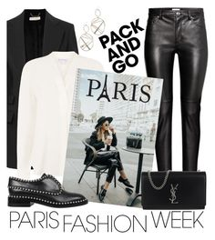 """Paris Fashion Week"" by laurabosch on Polyvore featuring Chloé, Warehouse, Alexander Wang, Yves Saint Laurent, Alexis Bittar, parisfashionweek and Packandgo"