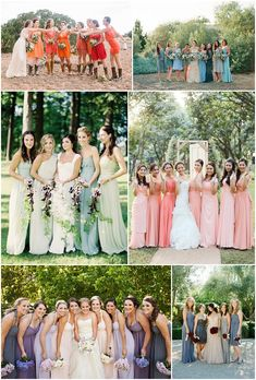 Pretty set on ombre dresses... Just need to pick my color scheme! Choosing Your Bridesmaids – Outfit Inspiration