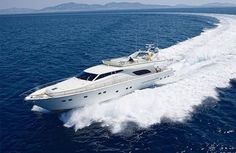 Ferretti Fly 80 - http://boatsforsalex.com/ferretti-fly-80/ -    US$ 1,336,700  Year: 2000Length: 81'Engine/Fuel Type: SingleLocated In: GreeceHull Material: FiberglassYW#: 79760-2733281Current Price: EUR  1,000,000 Tax Paid (US$ 1,336,700)  SPECIFICATIONS TYPE: 80 FERRETTI FLY YEAR: 2000 ENGINES: 2 X 1420 CATERPILLAR LOA: 24.55 ...
