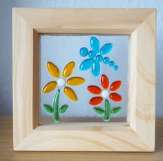 Small Fused Glass Framed Picture  Dragonfly and by Jewlls4u