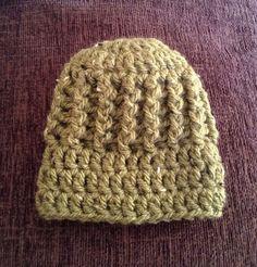 handmade crocheted hat for newborn boy