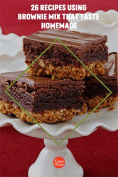 Our favorite shortcut to decadent desserts? Recipes using brownie mix. Just grab a box from the pantry and get ready to enjoy trifles, bars, cheesecake and more. Banana Brownies, Mint Brownies, Peanut Butter Brownies, Brownie Trifle, Brownie Sundae, Homemade Chocolate Frosting, Homemade Brownies, Grilled Bananas, Delicious Desserts