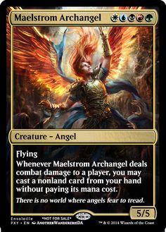 Magic the Gathering - Maelstrom Archangel by ASliceOfUnagi on deviantART