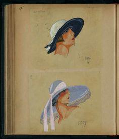Chapeaux 6920 - 6559, Paris 1923 © Patrimoine Lanvin. #Lanvin125