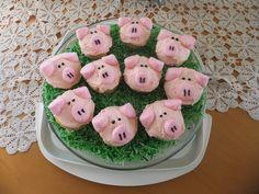 Pig cupcakes - Farmyard Animals themed morning tea