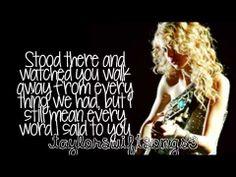 Haunted (Live) - Taylor Swift - Lyrics