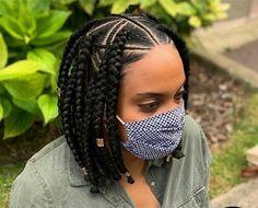 Short Bob Braids, Box Braids Bob, Box Braid Wig, Braids Wig, Box Braids Hairstyles, Senegalese Braids, Tight Braids, Wig Styles, Curly Hair Styles