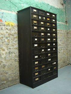 Amazing Industrial Metal Drawers with Pigeon Holes Vintage Storage ...
