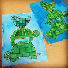 Stacked Turtles - Art Projects for Kids