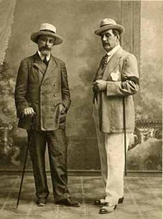 Luigi Illica and Giacomo Puccini...when men had style and the worst disease on the planet was black death.
