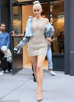 Dazzling: Kylie Jenner turned heads on Thursday on a shopping trip during New…