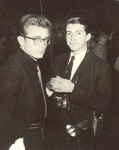 James Dean with Dennis Stock at the Valentine's Sweetheart high school dance in Fairmount, Indiana