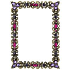 "Olivia Riegel Amethyst Cambridge Frame, 4"" x 6"" ($60) ❤ liked on Polyvore featuring home, home decor, frames, picture frames, backgrounds, fillers, borders, purple, olivia riegel and purple home decor"
