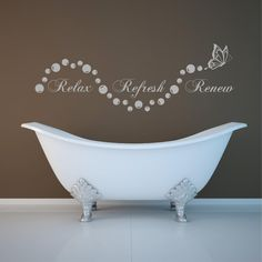 Relax bathroom Bubbles En Suite Wall Art Sticker Quote Decal Stencil Transfer on. Relax bathroom B Bathroom Wall Quotes, Bathroom Decals, Kitchen Wall Stickers, Wall Decor Quotes, Bathroom Wall Decor, Kitchen Wall Art, Bathroom Signs, Bath Quotes, Vinyl Wall Quotes