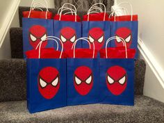 Spiderman Party Bags by Bagsoffunpartybags on Etsy