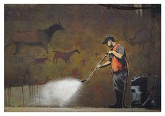 Banksy Cave Painting (30-0359)