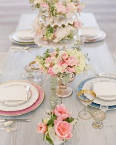 gorgeous flowers and I love the table setting