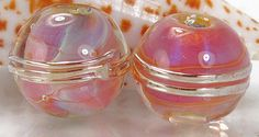 Handmade lampwork glass beads made to order round by KittyLampwork, $13.50