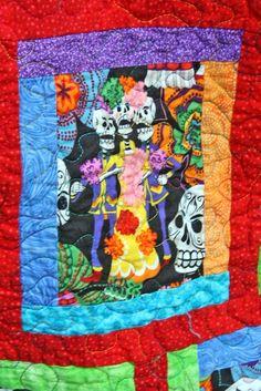 Day of the Dead quilt by Do Palma | Dia de los Muertos quilts ... : day of the dead quilt pattern - Adamdwight.com