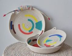 Gemma Patford rope baskets at Mr Sparrow. #shoppingperth #weloveperth
