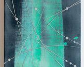 NEURONS 5  |  Original Encaustic Painting by Katie C. Gutierrez