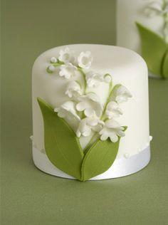 Mini cupcake delicada naturaleza