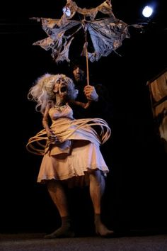Through the use of masks and other items of costume I can both amaze and scare the audience and provide entertainment.