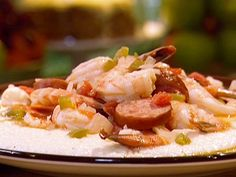 Shrimp and Grits: When I make this recipe, my boyfriend steals the leftovers and won't share them with me, so I know it's good!
