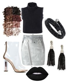 """""""15"""" by inquirieswithneianelanay on Polyvore featuring Dsquared2, Rachel Comey, Lime Crime, LORAC, Swarovski and Oscar de la Renta"""