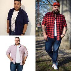Moda masculina plus size - Leia sobre como camadas e sobreposição podem ajudar a compor um look plus size.
