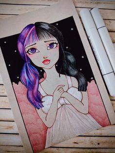Kawaii anime girlsketch cutesketch colors watercolors pencilcolours Disney Inspired, Fashion Sketches, Kawaii Anime, Watercolors, Disney Characters, Fictional Characters, My Arts, Manga, Portrait