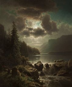 View Večer na jezeře by Adolf Chwala on artnet. Browse upcoming and past auction lots by Adolf Chwala. Classic Paintings, Great Paintings, Beautiful Paintings, Beautiful Landscapes, Fantasy Landscape, Landscape Art, Landscape Paintings, Fantasy Art, Nocturne