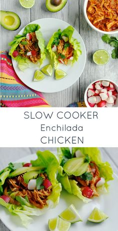 Easy, versatile, and so tasty, this Slow Cooker Enchilada Chicken is a weeknight go-to that everyone will love!