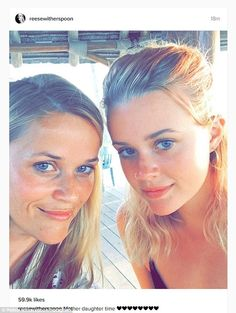 Double take: Reese Witherspoon posed with her daughter Ava in this Instagram snap posted on Friday