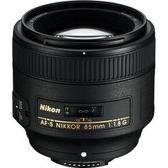 I am in love with this portrait lens: Nikon AF-S NIKKOR 85mm f/1.8G Lens