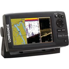 Lowrance 000-10966-001 Elite-7 Base Combo Dual-Imaging Chartplotter with 83/200/455/800KHz HD Skimmer