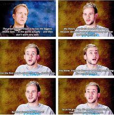 Haha! Dom and Billy on Elijah's eyes...
