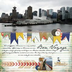 Disney Scrapbook Page Layout - Leaving Vancouver on the Disney Wonder