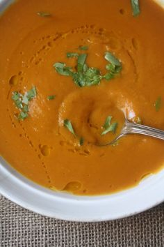 Creamy Vegan Pumpkin Soup #thanksgiving
