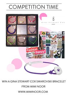 It's #competition time! We've teamed up with the gorgeous girls from The Style Rawr to give away 2 Gina Stewart Cox Swarovski bracelets, one to a Facebook fan and one to a Twitter follower. All you have to do is LIKE our facebook page and SHARE the picture, or FOLLOW+RT on Twitter. https://www.facebook.com/pages/Mimi-Noor/156456574379767  https://twitter.com/miminoordotcom    Good luck!
