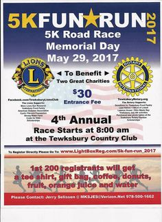 Memorial Day at Tewksbury Country Club.Lions and Rotary support a number of different charities Led Projects, American Diabetes Association, Rotary Club, Core Beliefs, Best Places To Live, Make New Friends, Community Service, Road Racing, Memorial Day